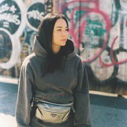 LindsayJang_GrayHoodie_GraffitiWall