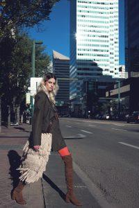 Model in downtown Edmonton