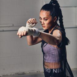 Olivia Cheng boxing
