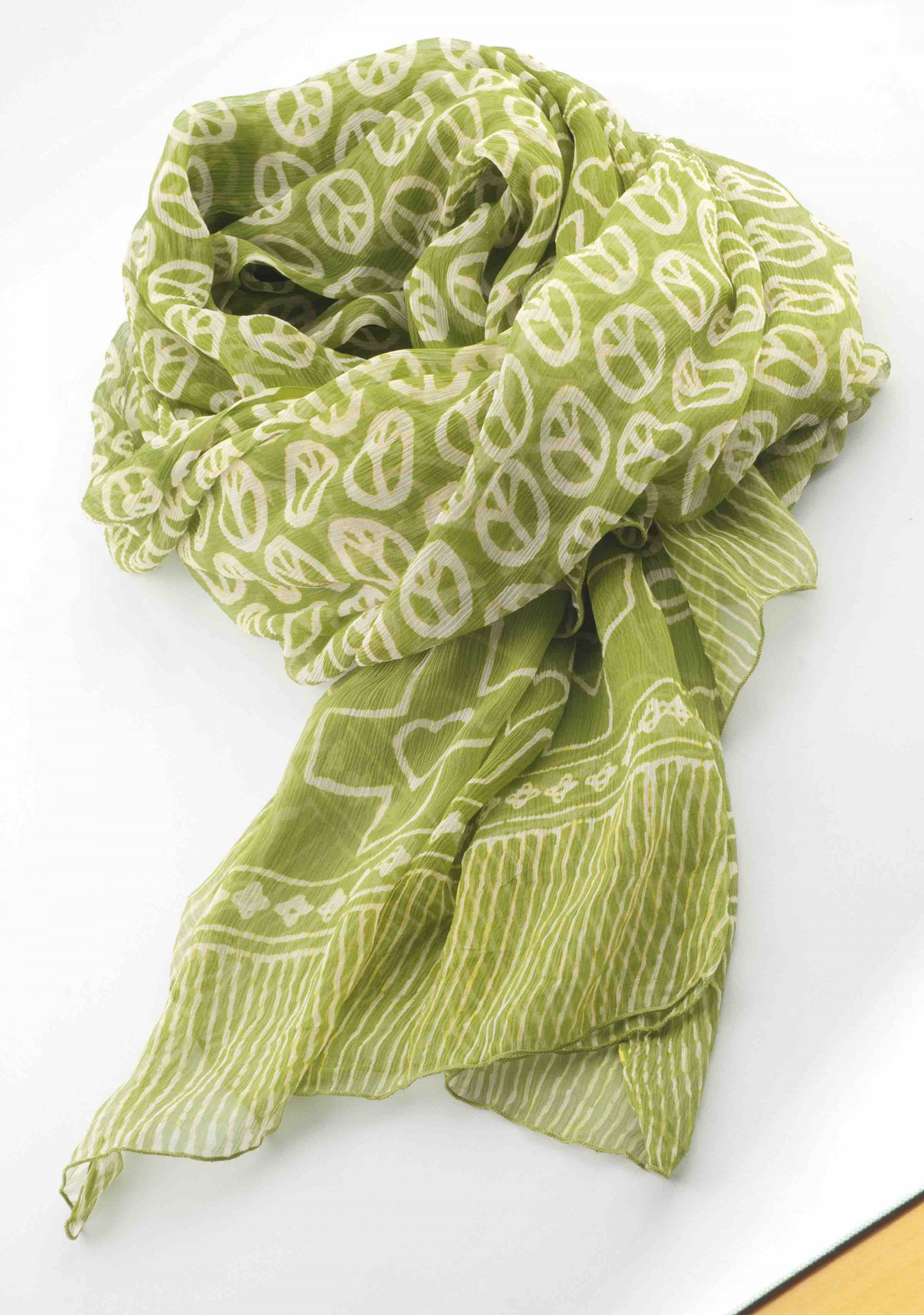 Peace scarf by Good Charma, $98, from Katwalk Shoes (18336 Lessard Rd., 780-481-1936).