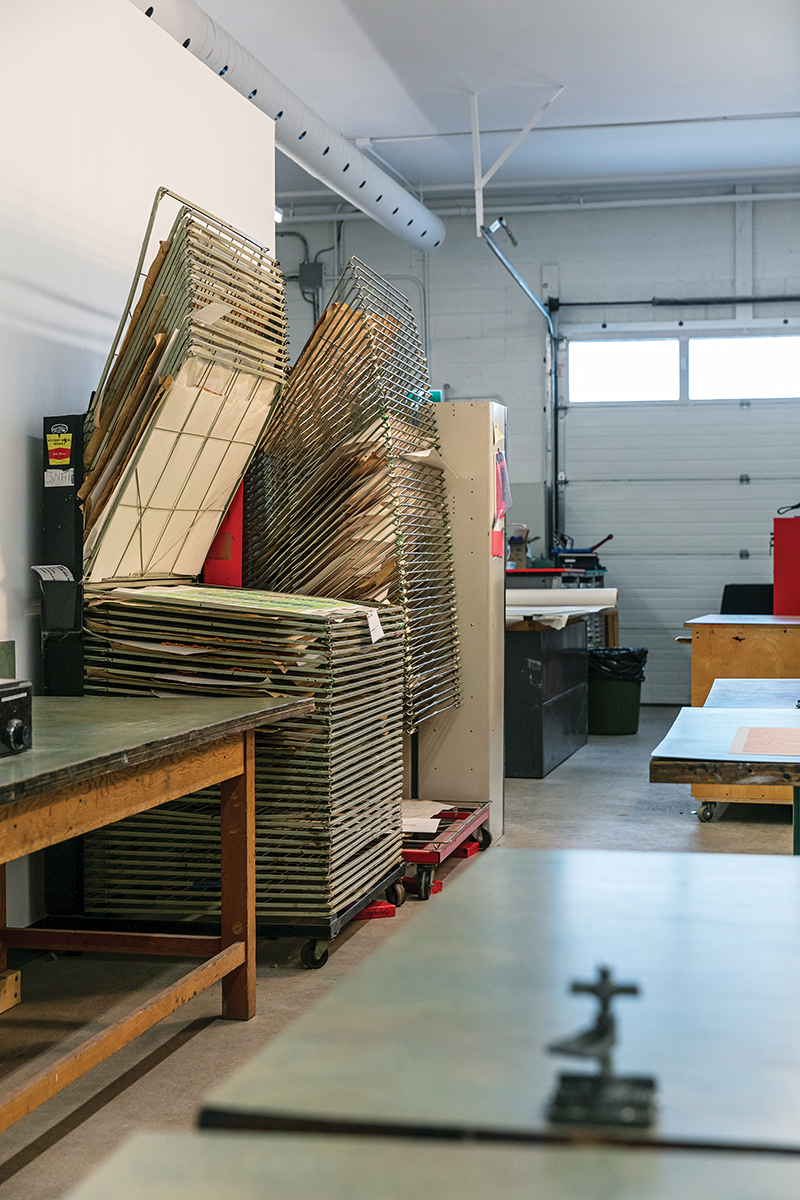 The printing work area