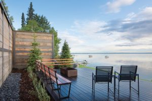 The Malloy home offers stellar views of Pigeon Lake.