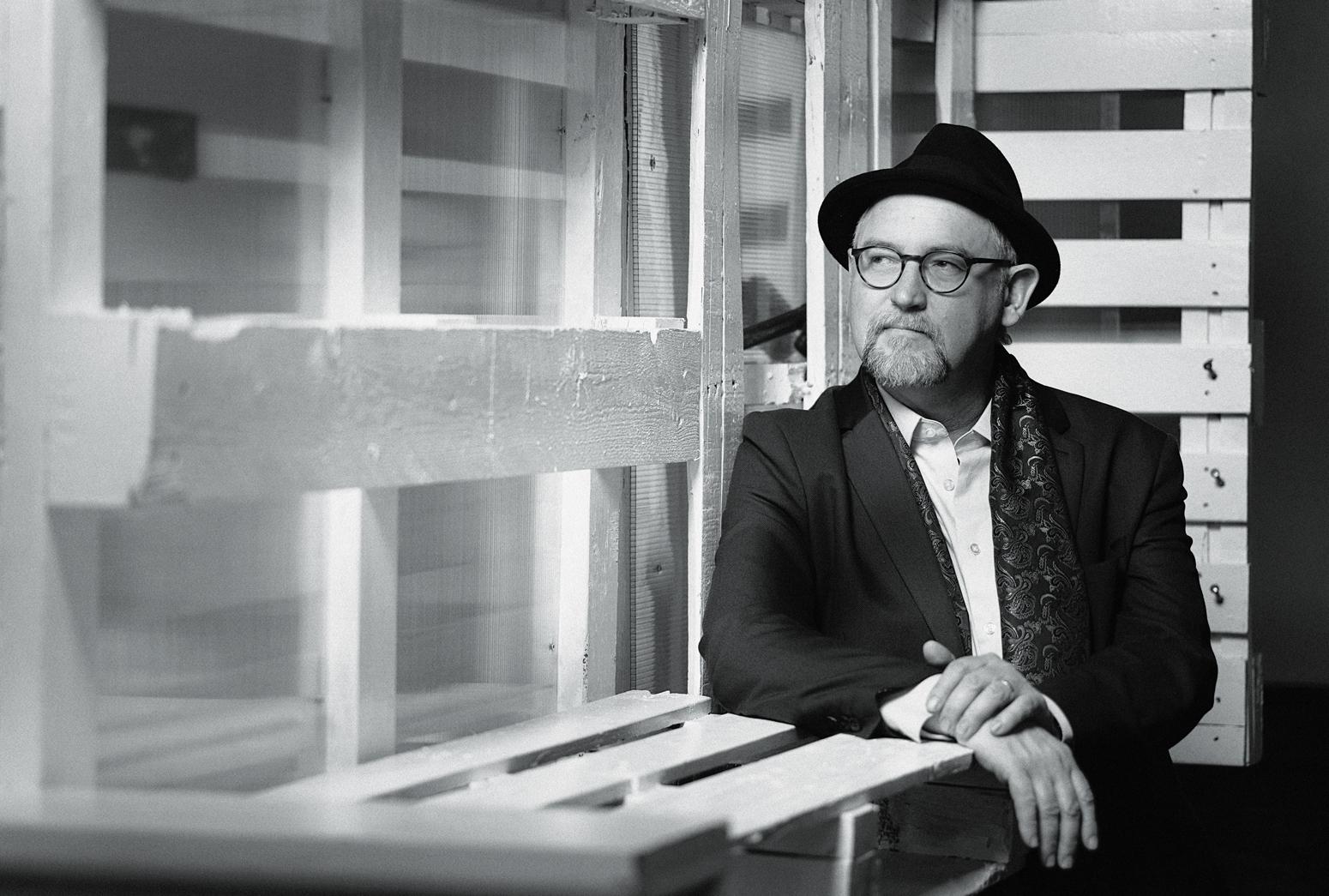 Vern Thiessen, black and white