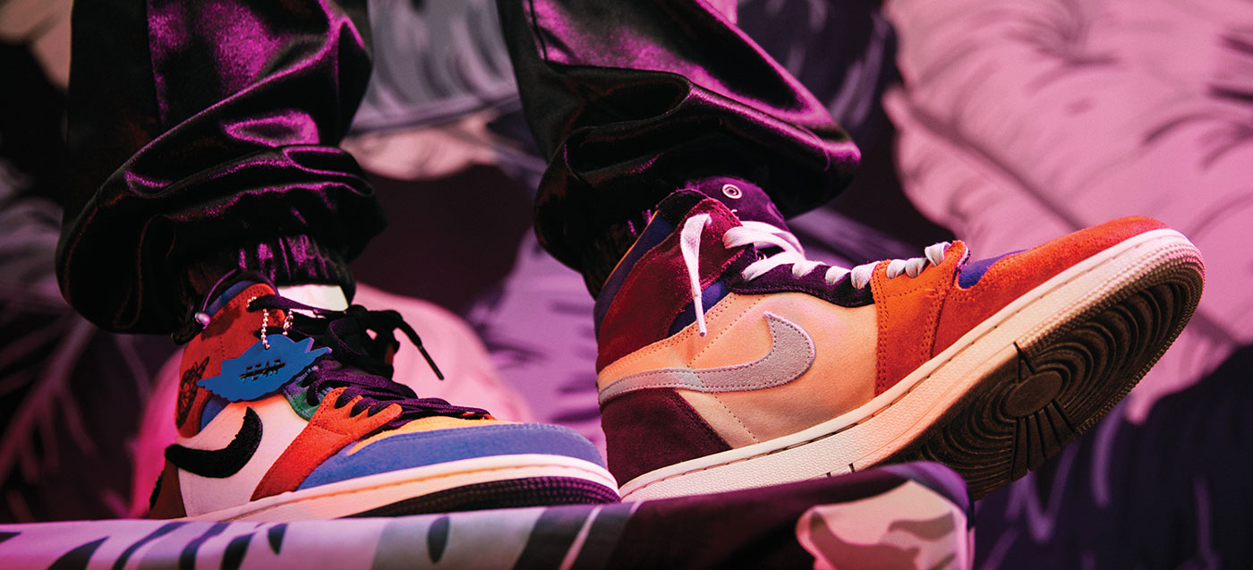 From left to right: Air Jordan 1 Mid Fearless
