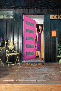 Justine Ma's front door