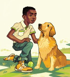 Stage_BlackBoy_GoldenRetrieverDog_illo