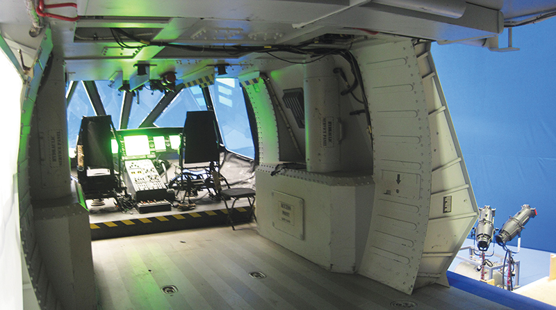 The interior of the helicopter used in Zero Dark Thirty has green lighting just like the original stealth chopper used in the Osama bin Laden assassination