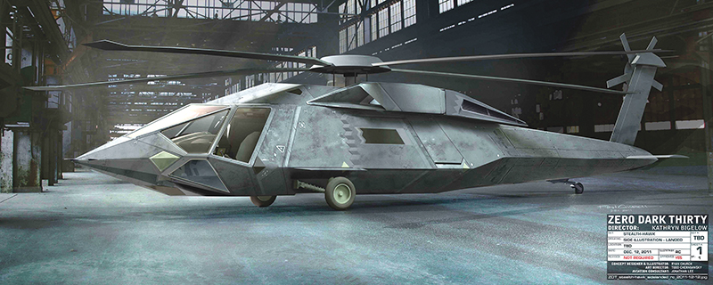 The finished stealth chopper had to be as true-to-life as possible