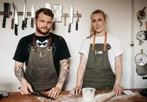 Owners and head chefs at The Hollows and Primal Pasta — Kyle Michael and Christie Peters