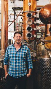 Cary Bowman, president of Lucky Bastard Distillery