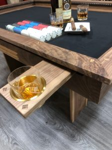 High Roller/High Stakes Gaming Table with drink