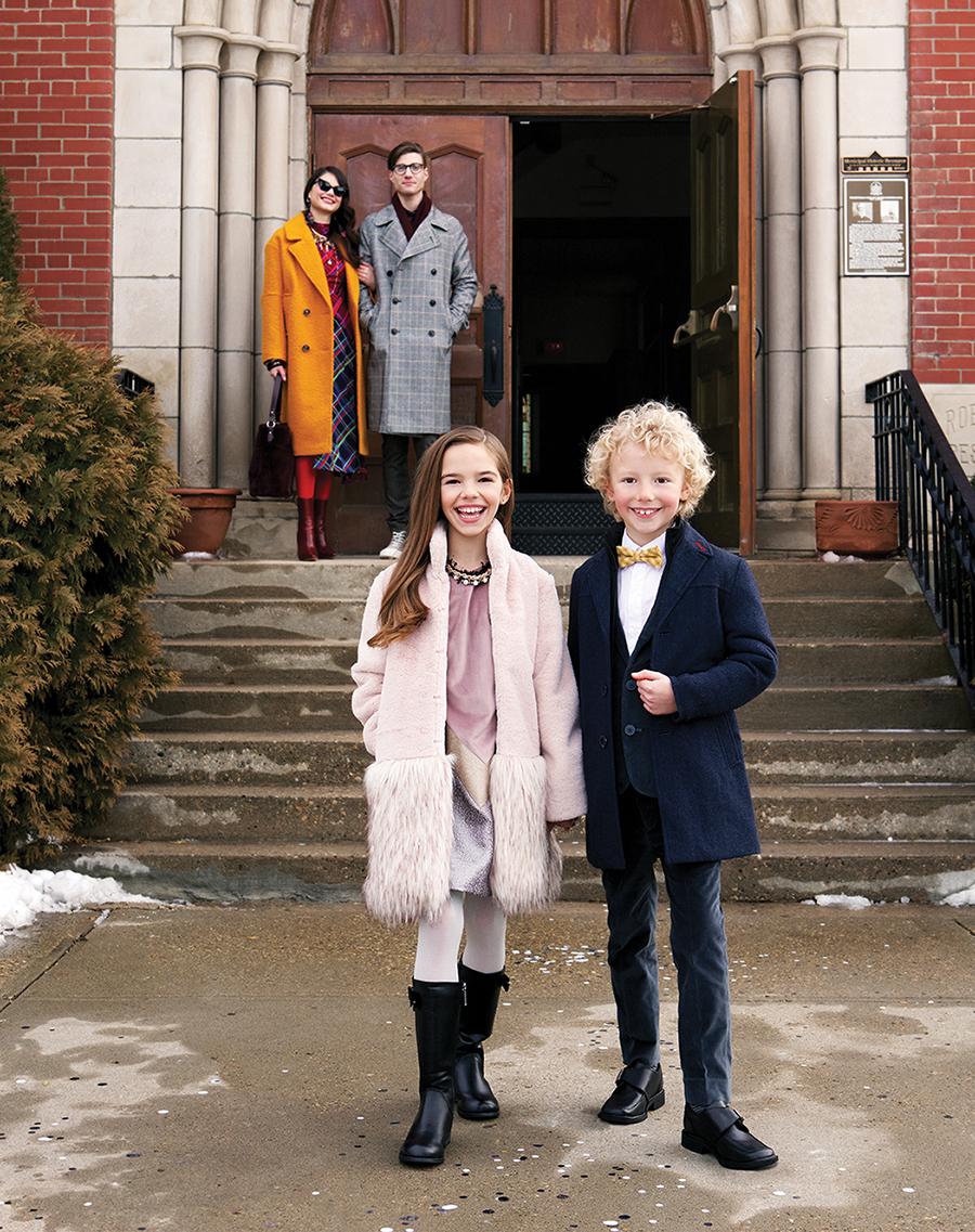 Topshop coat and dress