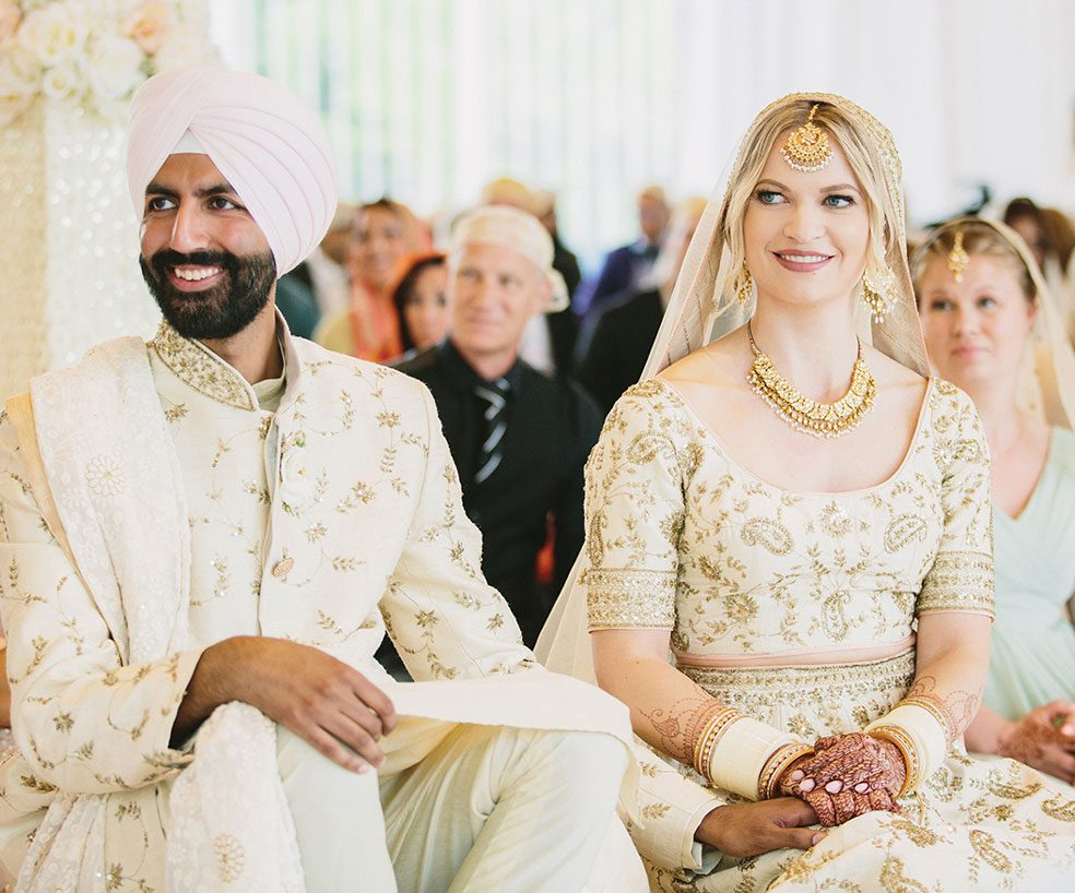 Imran and Chelsey Gill's Traditional Punjabi Ceremony and Western Reception