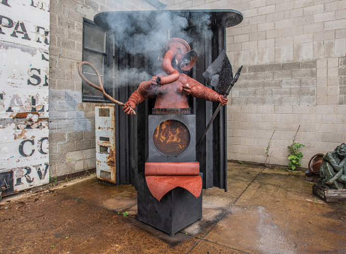 "The Story Behind Ryan McCourt's ""Hot Ganesha"" Sculpture"