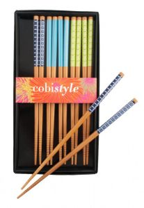 Enjoy takeout sushi with colourful cobistyle chopsticks (starting at $10.50), available at Beautiful Home & Gift Inc. (The Enjoy Centre, 101 Riel Dr., St. Albert, 780-651-7372)