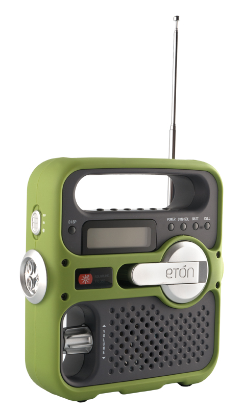 Solarlink radio has an LED flashlight, red emergency beacon light, backlit digital alarm clock, USB port for charging electronics and, of course, an AM/FM radio. It's $69.95 at Crate and Barrel. (Southgate Centre, 50 Avenue and 111 Street, 780-436-1454)