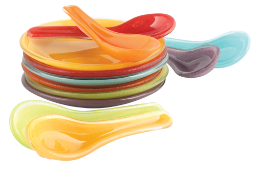 Who would bring glass spoons ($2 each) and plates ($3) to a picnic? You would, because they come in such fun colours. Find them at Zocalo Gallery Inc. (10826 95 St., 780-428-0754)