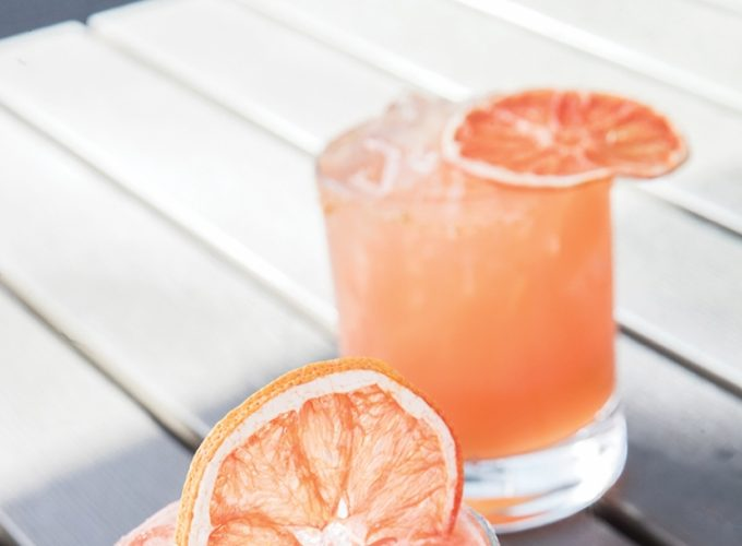 Smoked Grapefruit Jalapeño Margarita