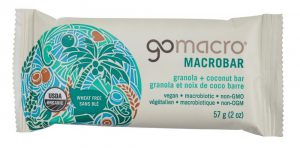 Go Macro granola bars, $3.69 each, from Earth's General Store. (9605 82 Ave., 780-439-8725)