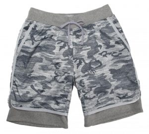 Reigning Champ camo shorts, $145, from gravitypope Tailored Goods. (8222 Gateway Blvd., 780-988-1637)