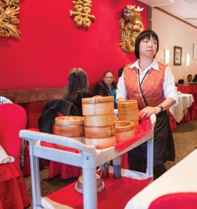 Each cart at Golden Rice Bowl holds some of the best dim sum in the city.