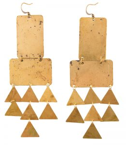 Geometric earrings, $60, from BangBang Bijoux