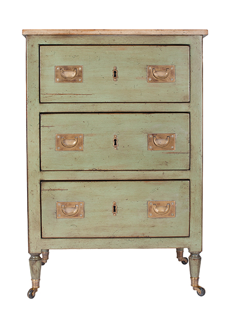 French Heritage chest, $1,140, from Christopher Clayton Furniture & Design House. (10363 170 St., 780-488-7001)