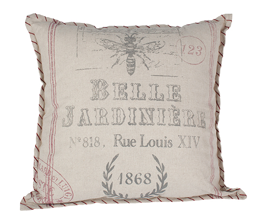 Linen bee pillow, $45, from C C on Whyte. (5040 104A St., 780-432-1785)