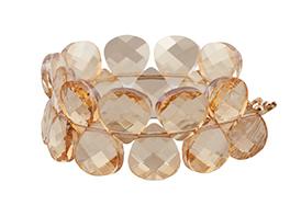Swarovski Crystal Briolette bracelet, $210, from C C on Whyte. (5040 14A St., -780-432-1785)