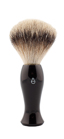 Badger hair shave brush by eShave, $100, from LUX Beauty Boutique. (12531 102 Ave, 780-451-1423)