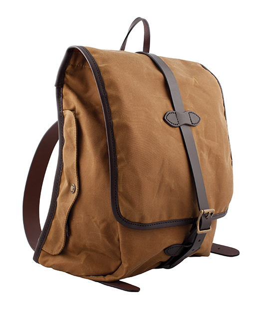 Filson tin cloth backpack, $260, from Red Ribbon. (12505 102 Ave., 780-454-4336)