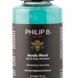 Nordic Wood hair and body shampoo by Philip B., $10, from Lux Beauty Boutique. (12531 102 Ave., 780-451-1423)