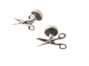 Scissor cufflinks by Eton, $95, from Henry Singer. (#160 Manulife Place, 10180 101 St., 780-423-6868)