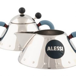 Stainless steel sugar bowl with spoon, $96, and stainless steel creamer by Alessi, $73, from Zenari's. (#135 Manulife Place, 10180 101 St., 780-423-5409)