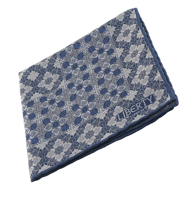 Liberty of London pocket square, $75, from Henry Singer.