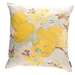 Adam & Viktoria cushion, $275, from Cosafina. (10508 109 St., 780-428-1415)