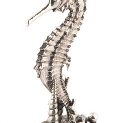 Pewter seahorse candlestick, $575, from Cosafina. (10508 109 St., 780-428-1415)