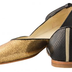 Modern Mary-Jane custom-made flats, $188, from Poppy Barley. (10363 104 St., 780-485-7064)