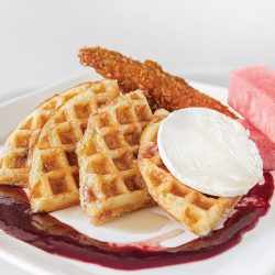 Chicken and Waffles at The Common