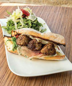 Meatball Sandwich at Cibo Bistro