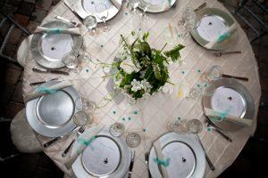 Wedding of Steve and Grace Poplawski, table service