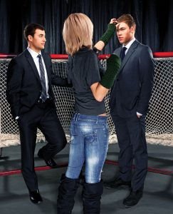 Jordan Eberle and Taylor Hall prepping for the shoot.